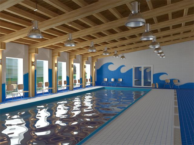 Wnętrze Basenu do nauki pływania